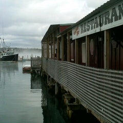 Photo taken at Lobsterman's Wharf by Jim C. on 12/25/2011