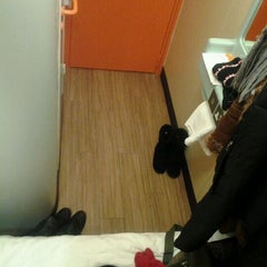 Photo taken at easyHotel Edinburgh by Amanda W. on 12/6/2011