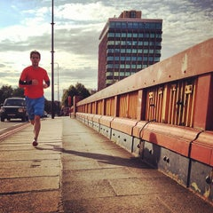 Photo taken at Vauxhall Bridge by andrew_sf on 7/16/2012