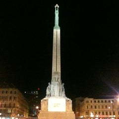 Photo taken at Brīvības piemineklis by Viktorija B. on 4/8/2012