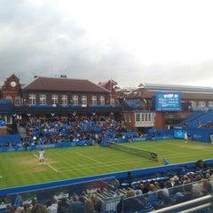 Photo taken at Queen's Club - Court 1 by Jules M. on 6/15/2012