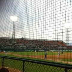 Photo taken at 무등야구장 (Mudeung Baseball Stadium) by JaeRim K. on 6/7/2012