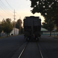 Photo taken at Front street railroad tracks by Steve B. on 9/7/2012
