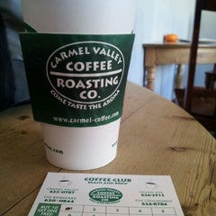 Photo taken at Carmel Valley Coffee Roasting Company by Darren A. on 11/8/2011