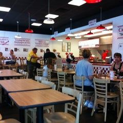 Photo taken at Five Guys by Alejandro W. on 7/23/2011