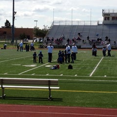 Photo taken at Utica High School by Christopher S. on 4/22/2012