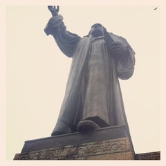 Photo taken at Martin Luther Monument by Justin H. on 4/28/2012