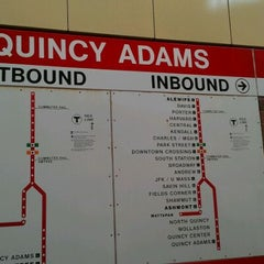 Photo taken at MBTA Quincy Adams Station by Lisa G. on 3/10/2012