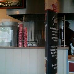 Photo taken at Jake's Wayback Burgers by John D. on 8/19/2012