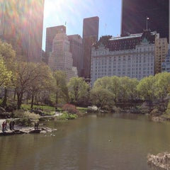 Photo taken at Central Park Duck Pond by Breno M. on 4/5/2012