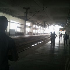 Photo taken at Tughlaqabad Metro Station by Nitish K. on 4/18/2012