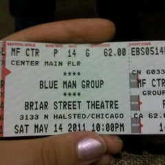 Photo taken at Blue Man Group at the Briar Street Theatre by emma k. on 5/15/2011