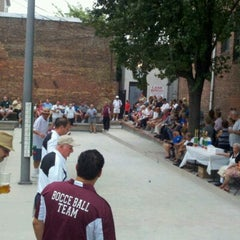 Photo taken at Little Italy Bocce Court by pizzablogger on 8/19/2012