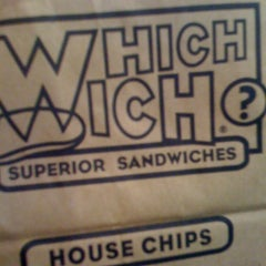 Photo taken at Which Wich? Superior Sandwiches by Andrea T. on 11/15/2011
