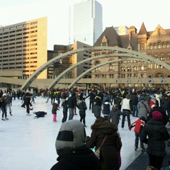 Photo taken at Nathan Phillips Square by Daniel M. on 2/20/2012