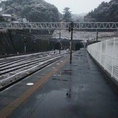 Photo taken at 金谷駅 (Kanaya Sta.) by Na+ on 1/16/2012