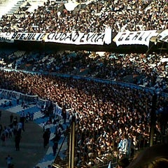 Photo taken at Estadio Juan Domingo Perón (Racing Club) by Fer S. on 7/29/2012
