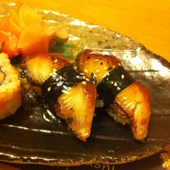 Photo taken at Bambuszliget Japán Étterem & Sushi Bár by andrea s. on 12/14/2011