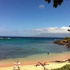 Photo taken at Kapalua Bay Beach by Shelley K. on 5/27/2012