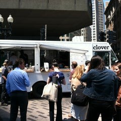 Photo taken at Clover Food Truck (Dewey Sq) by Rick B. on 6/18/2012
