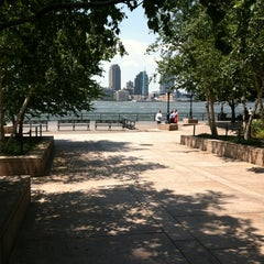 Photo taken at Hudson River Promenade by Penny N. on 7/12/2012