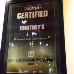 Photo taken at Chutney's by Arjun M. on 5/19/2012