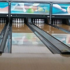 Photo taken at Royal Lanes Bowling Alley by Gina C. on 10/12/2011
