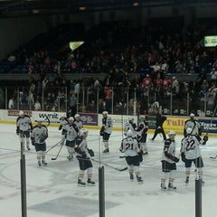 Photo taken at The Oncenter War Memorial Arena by Jennifer N. on 12/3/2011