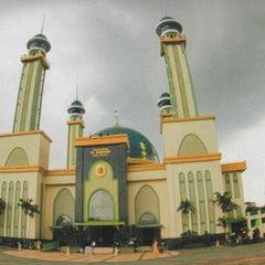 Photo taken at Masjid Agung AL-BARKAH Bekasi ® by Evalia H. on 8/31/2012