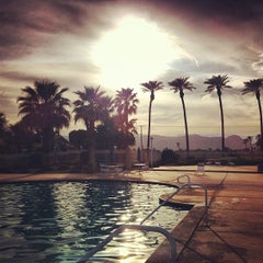 Photo taken at Indian Palms Country Club & Resorts by Laura H. on 3/6/2012