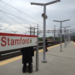 Photo taken at Stamford Transportation Center Bus/Train (STM) Metro North & Amtrak by Arthur T. on 5/14/2012