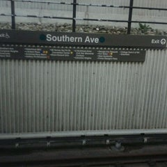 Photo taken at Southern Avenue Metro Station by Randy Y. on 2/6/2012
