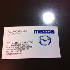 Photo taken at University Mazda by Walter G. on 10/11/2011