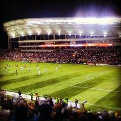 Photo taken at Rio Tinto Stadium by ArtJonak on 4/8/2012
