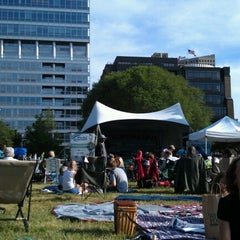 Photo taken at Cathedral Square Park by Alex L. on 6/14/2012