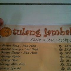 Photo taken at Tulang Jambal by Faishal on 8/23/2012