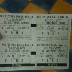 Photo taken at Cines Bahía Mar by Valentin on 7/16/2012