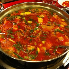 Photo taken at 놀부부대찌개&철판구이 by ilmook K. on 12/5/2011