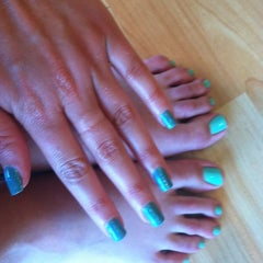 Photo taken at Bellemani nail salon by 🎀 Rachael 👑 D. on 8/8/2012