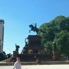 Photo taken at Plaza Libertador General San Martín by Danilo R. on 4/17/2012