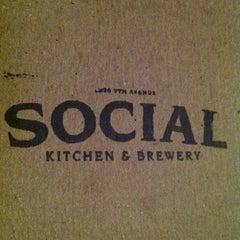 Photo taken at Social Kitchen & Brewery by Matthew M. on 2/18/2011