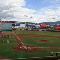 Photo taken at Estadio de Beisbol Eduardo Vasconcelos by Alejandra S. on 7/22/2012
