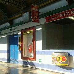 Photo taken at Metro San Joaquín by Viviana C. on 9/2/2011
