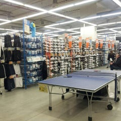 Photo taken at Decathlon by Frank G. on 1/6/2012