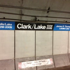 Photo taken at CTA - Clark/Lake by Larry on 5/29/2012