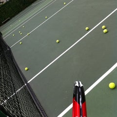 Photo taken at Tennis Court@Waterfront Wave by Hoe K. on 8/25/2012