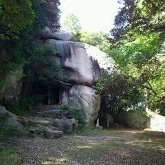 Photo taken at 鬼の差し上げ岩 (Ryoko's Cave) by Motoki G. on 9/25/2011