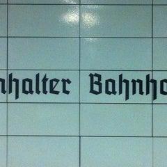 Photo taken at S Anhalter Bahnhof by Matthias A. on 9/14/2011