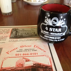 Photo taken at Four Star Diner by Felipe P. on 3/17/2012