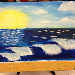 Photo taken at Wine And Canvas Art Studio by Morgan M. on 8/26/2012